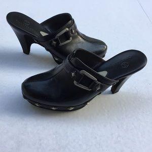 Cole Haan Leather Wedge Clogs 6.5